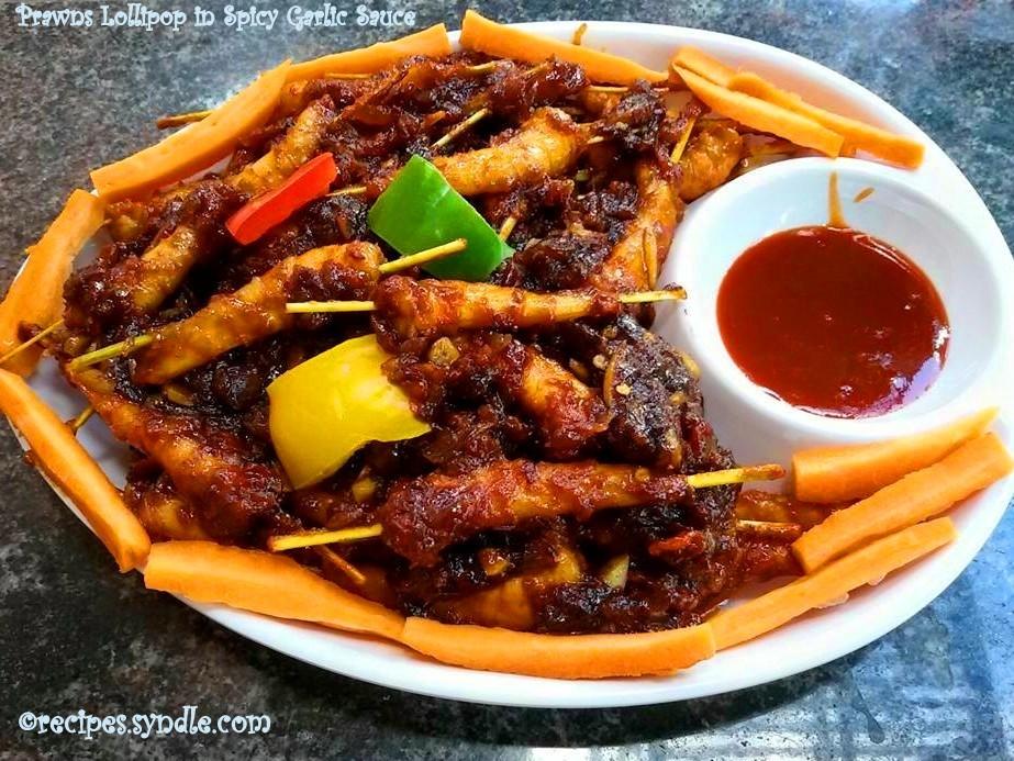 prawns in spicy garlic sauce