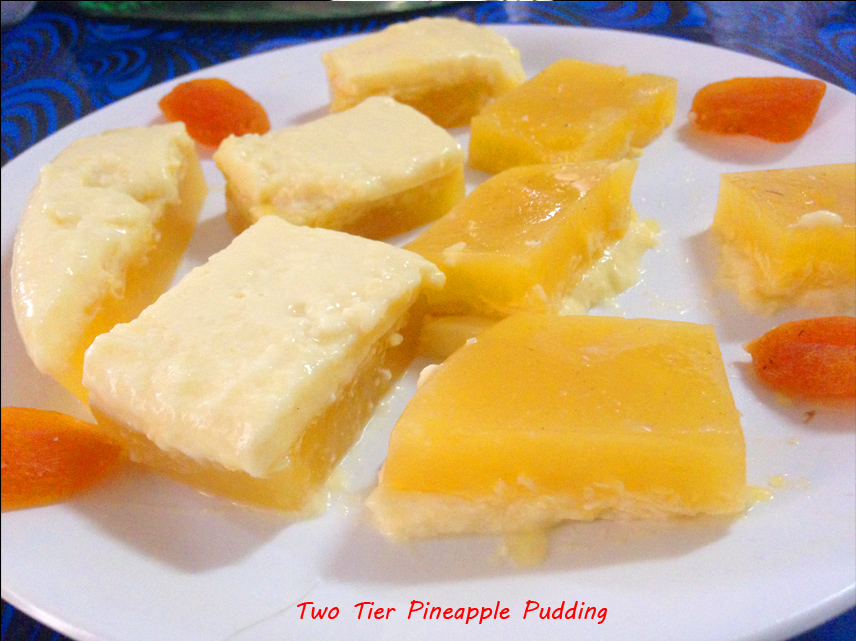 Two Tier Pineapple Pudding