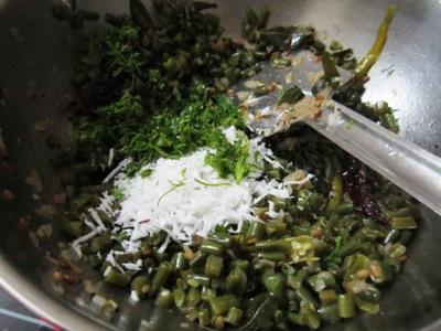 recipe of beans poriyal