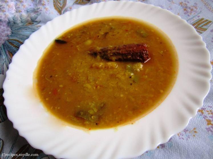 sambar kerala style with coconut