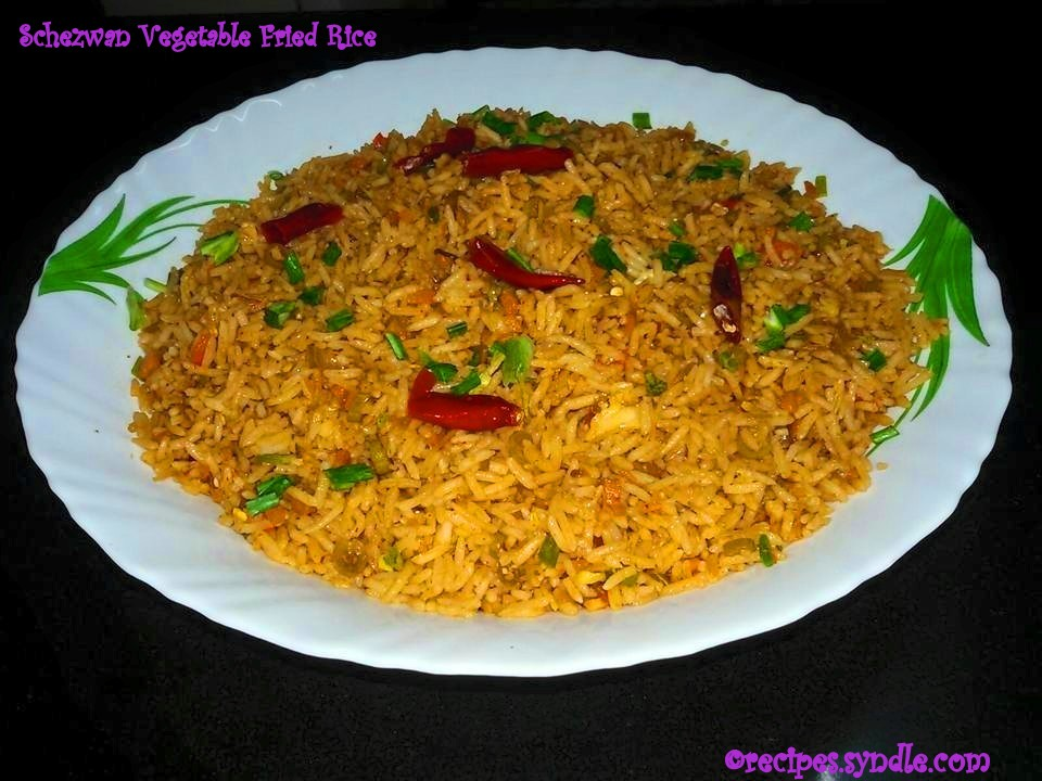 schezwan vegetable fried rice recipe