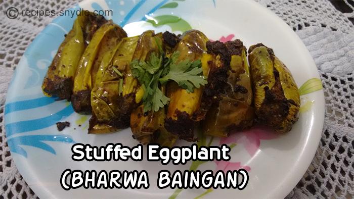 stuffed eggplant- bharwa baingan