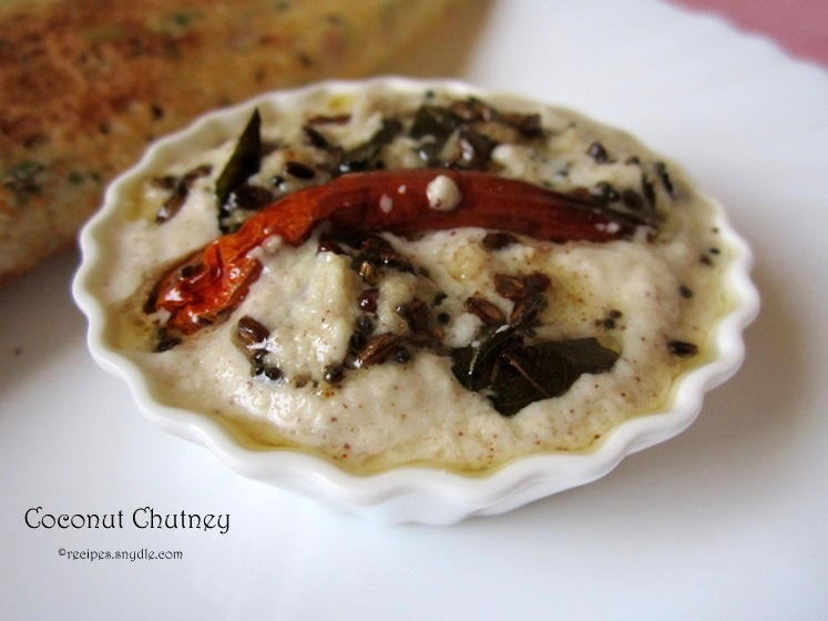 Coconut Chutney Recipe with Step by Step Pictures