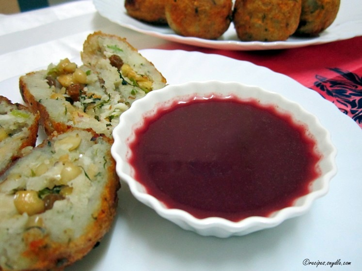 Navratri Special - Pomegranate Sauce Recipe with Step by Step Pictures