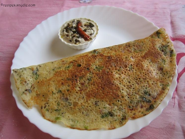 recipe for onion rava dosa