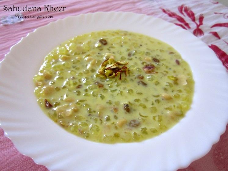 recipe for sago pudding