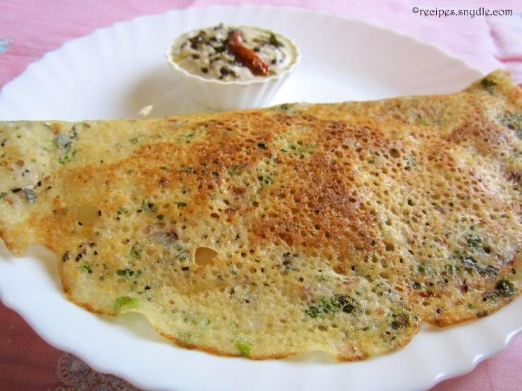 recipe of onion rava dosa