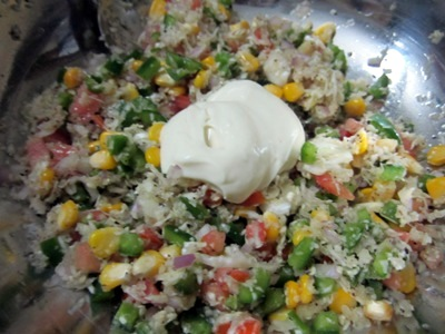 recipe of vegetable sandwich
