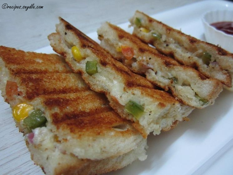 Vegetable Mayo Sandwich Recipe