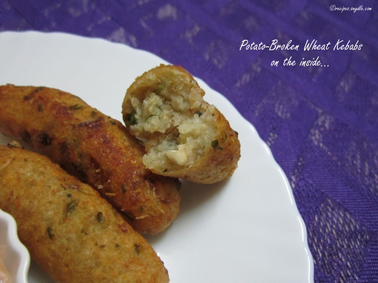Potato-Broken Wheat Kebabs Recipe
