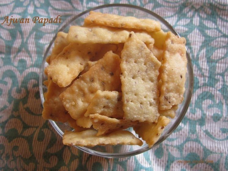 ajwain papdi recipe