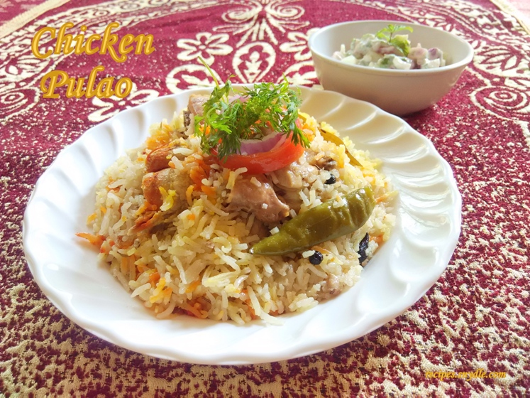 chicken pulao in microwave