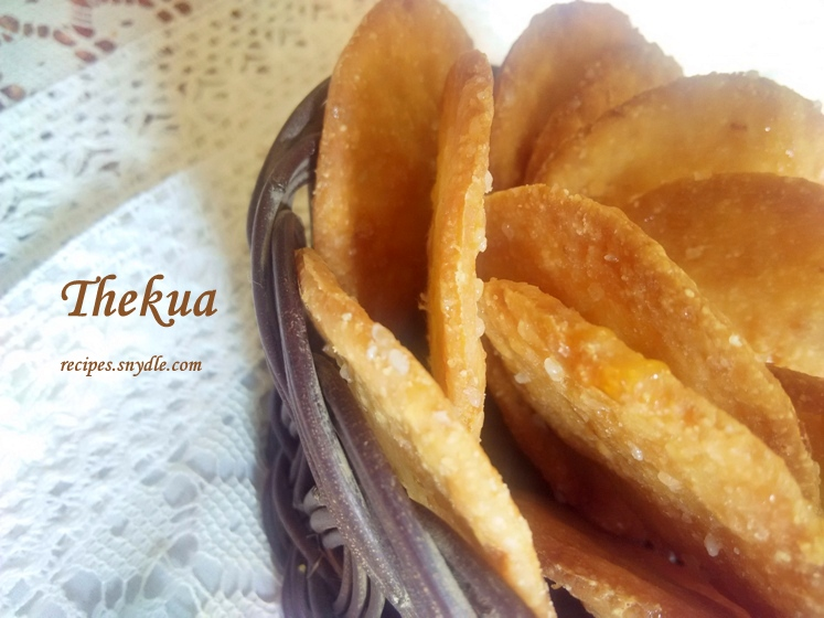 crispy and crunchy thekua