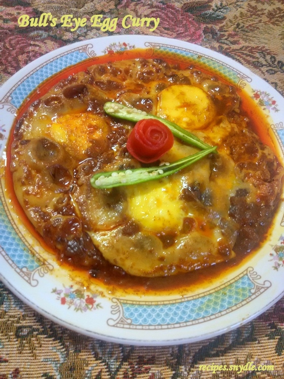 Bull's Eye Egg Curry Recipe/Dum Egg Curry Recipe