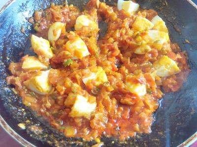egg in tomato sauce