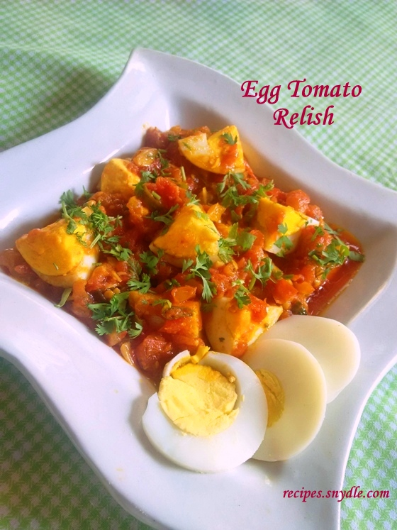 How to make Egg Tomato Relish Recipe/Tangy Tomato Eggs Recipe/Eggs in Tomato Sauce Recipe.