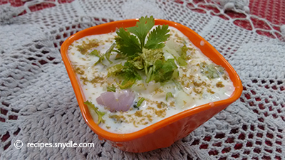 healthy cucumber raita