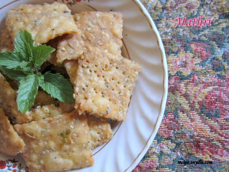 meethi mathri recipe