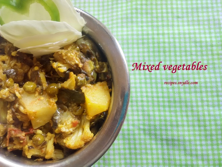 mixed vegetable dinner recipe
