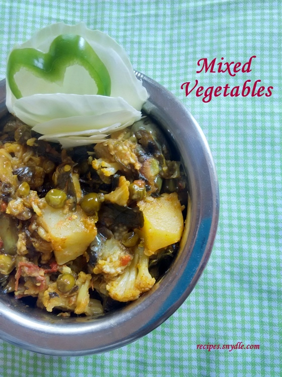 mixed vegetable recipe dry