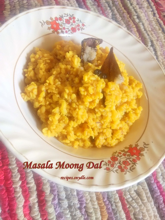 Masala Moong Dal Recipe.
