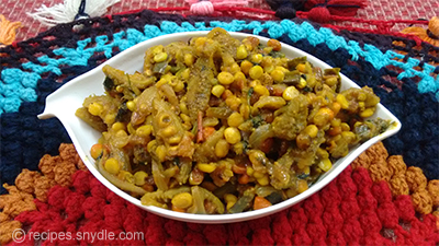 mouth watering homemade kantola with chana dal