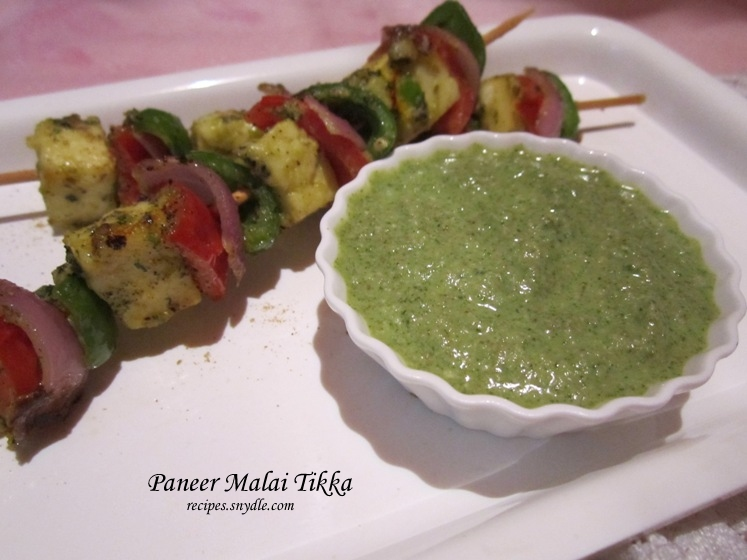 recipe of malai paneer tikkas