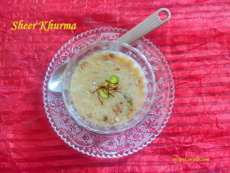 recipe of sheer khurma in english