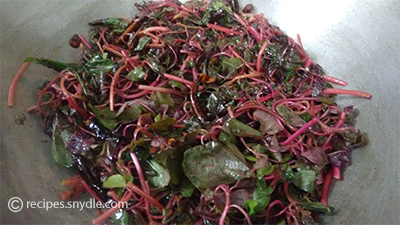 yummy red spinach