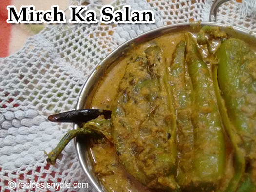 Mirch ka salan recipe