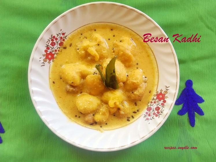 besan wali kadhi recipe