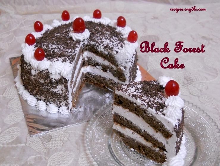 Black Forest Cake Recipe/Homemade Black Forest Cake/Black Forest Cake in Cooker.