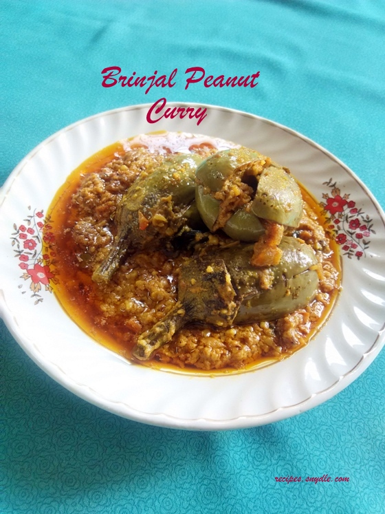 brinjal and peanut curry