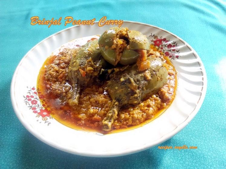 brinjal peanut curry recipe