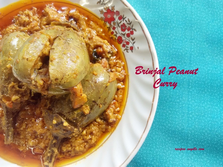 brinjal peanut masala curry