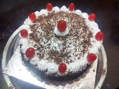 cherries of black forest cake