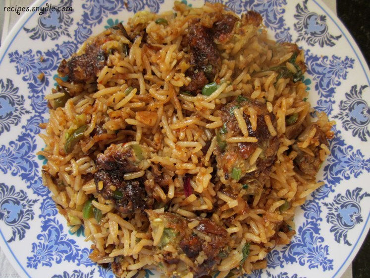 chinese manchurian rice recipe