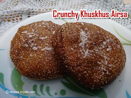 chrunchy khuskhus airsa recipe