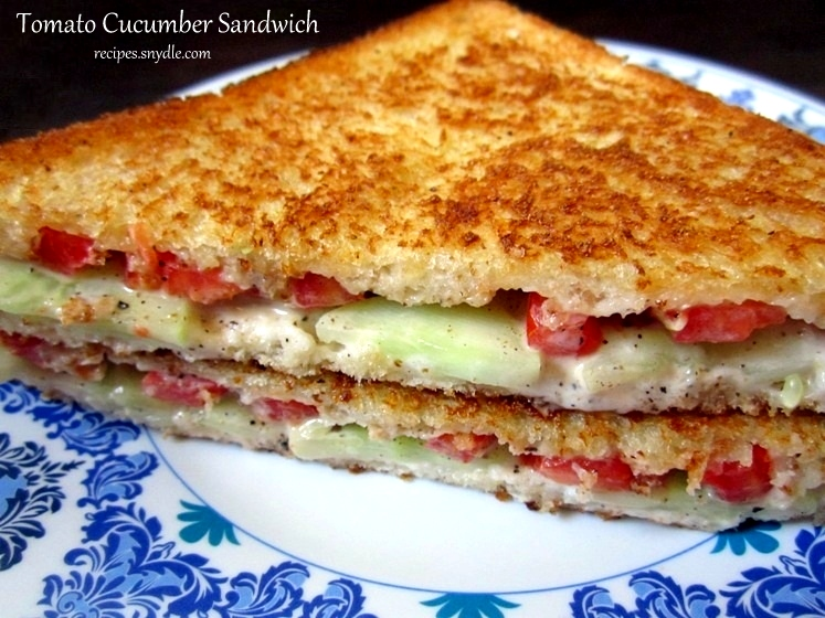 Tomato & Cucumber Sandwich Recipe