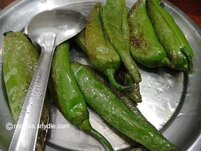 green mirch ka salan yummy