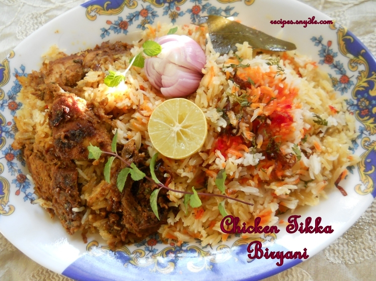 Chicken Tikka Biryani Recipe Chicken Dum Biryani Recipe ...