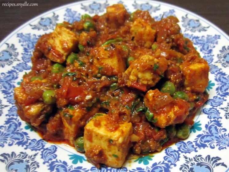 Matar Paneer Recipe / Mutter Paneer Recipe with Step by Step Pictures