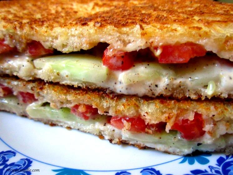 how to make tomato sandwich