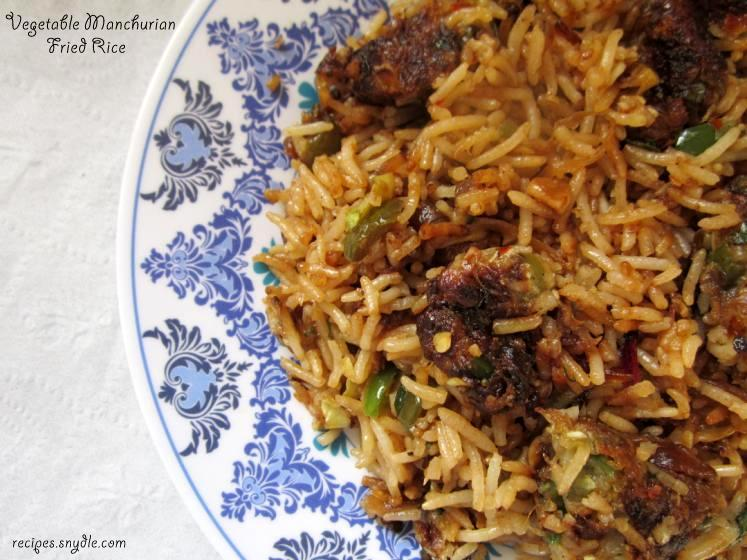 indo chinese rice recipes
