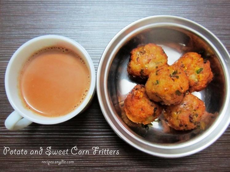 potato and sweet corn fritters recipe