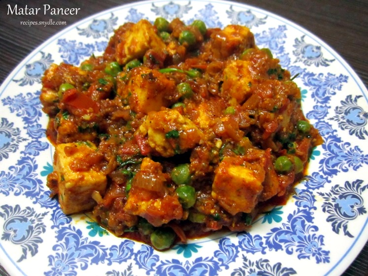 recipe for mutter paneer