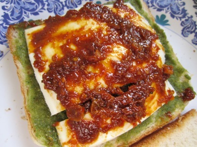 recipe of corn and spinach sandwich