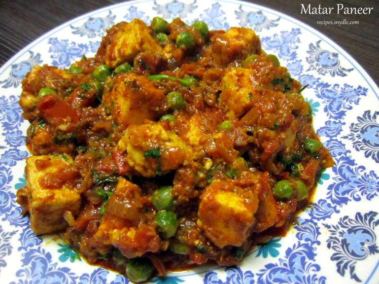 Matar paneer recipe mutter paneer recipe with step by step pictures forumfinder Gallery