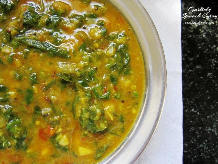 recipe of spinach curry recipe