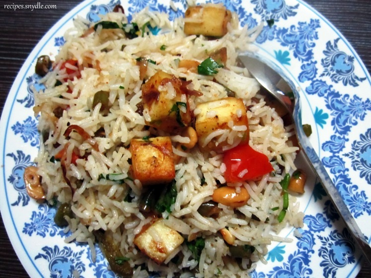 Paneer and French Beans Rice Recipe